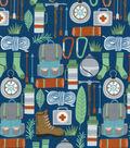 Snuggle Flannel Fabric 42\u0027\u0027-Camping Essentials