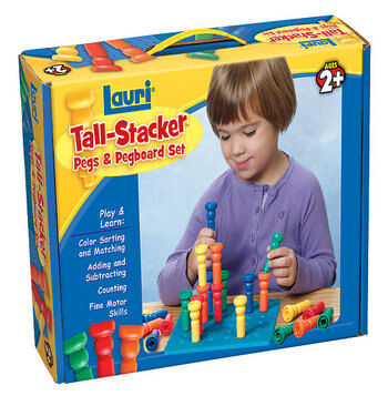 Tall Stacker Pegs And Board Set-