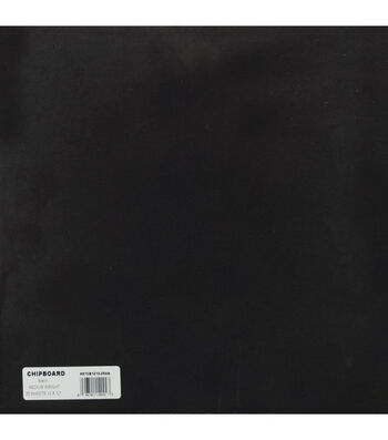 "Grafix 12""x12"" Medium Weight Chipboard Sheets-25PK/Black"
