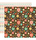 I\u0027d Rather Be Crafting 25 pk Double-Sided Cardstock-Favorite Floral