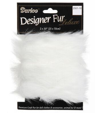 2 x 30 inch Fur Trim-Black