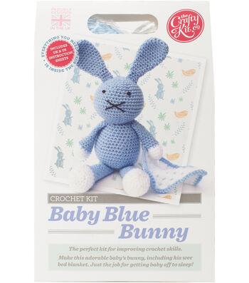 The Crafty Kit Co. Crochet Kit-Baby Blue Bunny