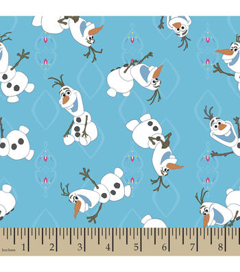 "Disney® Frozen Flannel Fabric 42""-Olaf Allover"