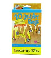 Creativity For Kids Creativity Kit-10 Opti Art Rings, , hi-res
