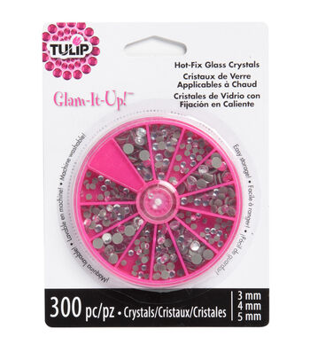Tulip® Glam-It-Up!™ Iron-On Crystals-Crystal