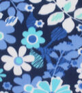 Blizzard Fleece Fabric 59\u0022-Ultramarine Floral