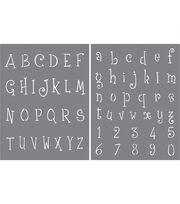 DecoArt® Americana® 2 pk Alphabet Stencil-Whimsical Delight, , hi-res