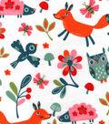 Snuggle Flannel Fabric 42\u0022-Happy Woodland Friends