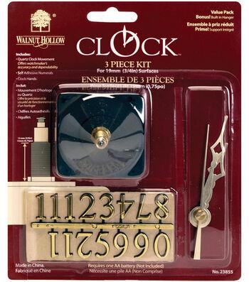 """Walnut Hollow Quartz Clock Kit-3/4"""" Surface"""