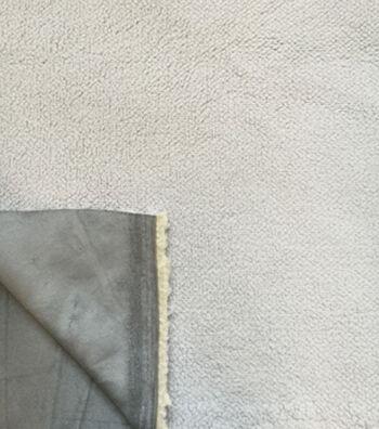 "Luxury Faux Fur Sherpa Suede Fabric 61""-Gray"