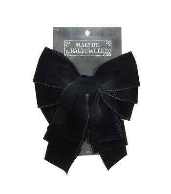 Maker's Halloween 2.5'' Velvet Bow-Black