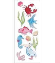 A Touch Of Jolee's A Day At The Beach Dimensional Stickers-Sealife South, , hi-res