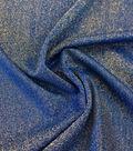 Casa Embellish Spring Stretch Metallic Knit Fabric 56\u0022-Dazzling Blue