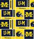 University of Michigan Wolverines Cotton Fabric 44\u0022-Herringbone Box