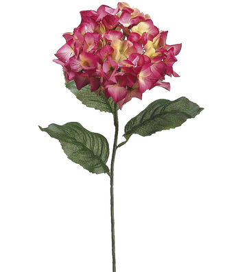 "Bloom Room 30"" Hydrangea Stem Fuschia"
