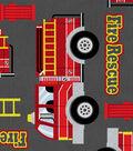 Anti-Pill Fleece Fabric 61\u0022-Fire Rescue