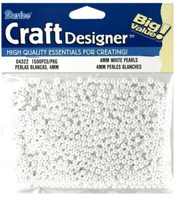 Darice 4mm Loose Pearls-1500PK/White
