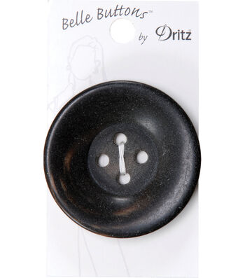 Dritz 51mm Belle Button Chunky Round Brown
