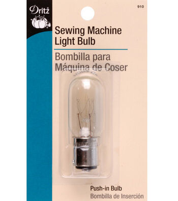 Dritz Sewing Machine 15W Light Bulb With Push-In Bayonet Base
