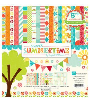 "Echo Park Paper Company™ Sweet Summertime 12""x12"" Scrapbooking Kit"