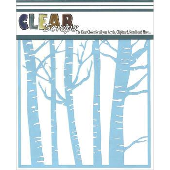 Clear Scraps Stencils Forest