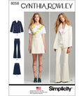 Simplicity Misses\u0027 Suit Separates, Cynthia Rowley Collection-4-6-8-10-12