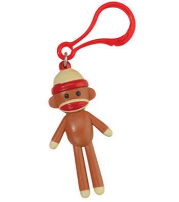 Sock Monkey Backpack Clip