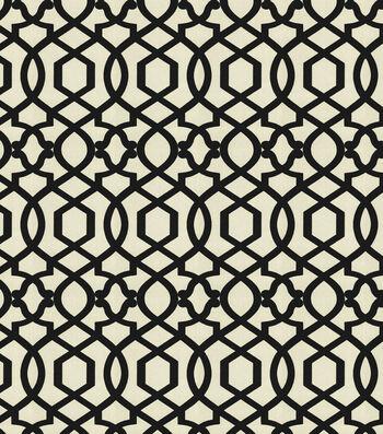"IMAN Home Upholstery Fabric 54""-Dynasty Noir"