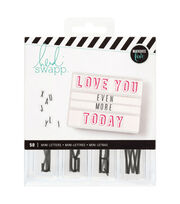 Heidi Swapp Lightbox Mini Inserts 50/Pkg-Alphabet Black, , hi-res