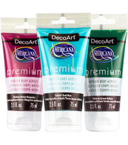 DecoArt® Americana® 2.5oz. Premium Tube Acrylics Satin Finish, , hi-res