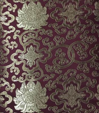 "Fashion Brocade Royal Twist Fabric 44""-Tawny Port"