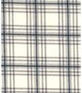 Snuggle Flannel Fabric 43\u0022-Gray Cream Plaid