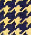 Anti-Pill Fleece Fabric Black And Gold Houndstooth