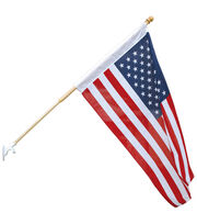 Sea To Shining Sea 30''x48'' US Flag With Wood Pole, , hi-res