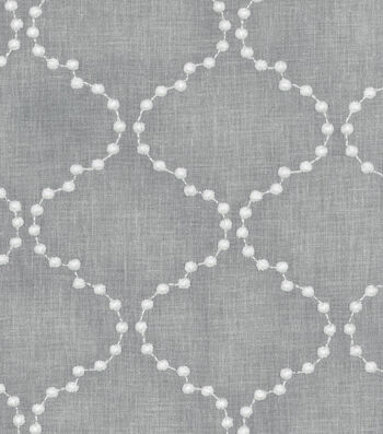 "HGTV Home Upholstery Fabric 54""-Pearl Drop Emb Smoke"