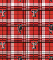"Texas Tech University Red Raiders Fleece Fabric 58""-Plaid, , hi-res"