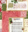 Christmas Cotton Fabric 43\u0022-Peace & Joy Patch