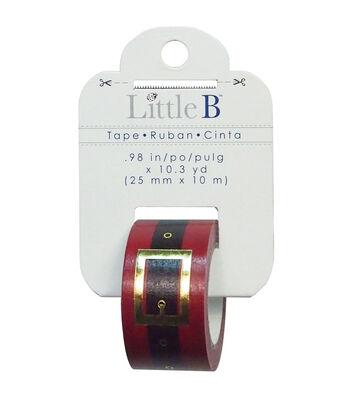 Little B Decorative Foil Tape 25mmx 10 yds-Santa Belt