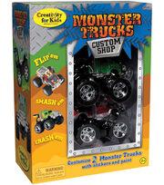Creativity For Kids Monster Trucks Kit-Custom Shop, , hi-res