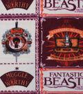 Fantastic Beasts Fleece Fabric 58\u0027\u0027-Recruitment