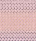 Asian Inspired Cotton Fabric 43\u0027\u0027-Metallic Diamond Dots on Pink