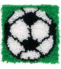 Wonderart Latch Hook Kit 8\u0022X8\u0022-Soccer
