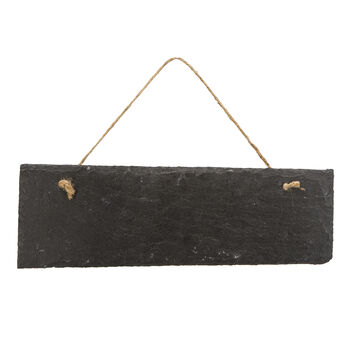 Slate Wall Plaque With Jute Hanger