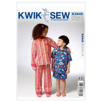 Kwik Sew Pattern K3945 Children's Sleep & Lounge
