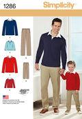 Simplicity Pattern 1286A 4-8 / 34-3-Men / Boy Sportswear