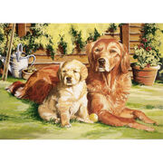 Reeves Paint By Number Kit Dog World, , hi-res