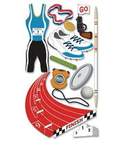 Jolee's Boutique Le Grande Dimensional Stickers-Track & Field, , hi-res