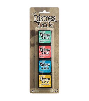 Tim Holtz Distress Mini Ink Pads 4/Pkg-Kit 13