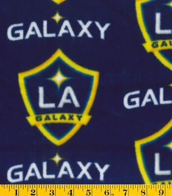 "LA Galaxy Fleece Fabric 58""-Logo"