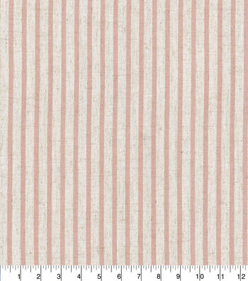 "Waverly Designer Upholstery Fabric 54""-Harlow Stripe Blush"
